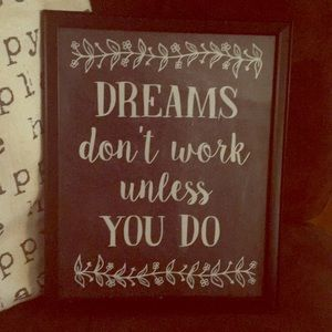 Inspirational quote in a  Picture Frame